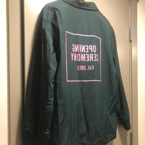 Opening Ceremony Nylon Jacket XL Jade Green Pink